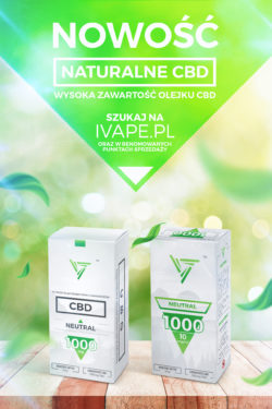 PŁYN E-LIQUID CBD – 1000MG/10ML – NEUTRAL CBD – OPAKOWANIE 10ML